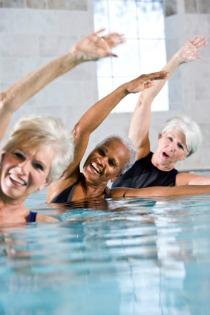 pool exercises, pool aerobics