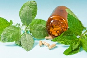 5htp, herbal supplement capsules