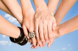 fibromyalgia support groups, hands together