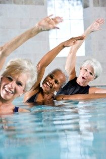 pool exercises, pool aerobics